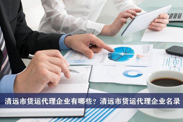 清远市货运代理公司有哪些?清远货运代理企业名录