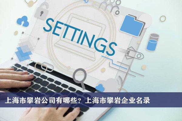 上海市攀巖公司有哪些?上海攀巖企業名錄