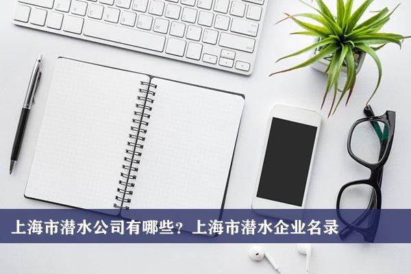 上海市潜水公司有哪些?上海潜水企业名录