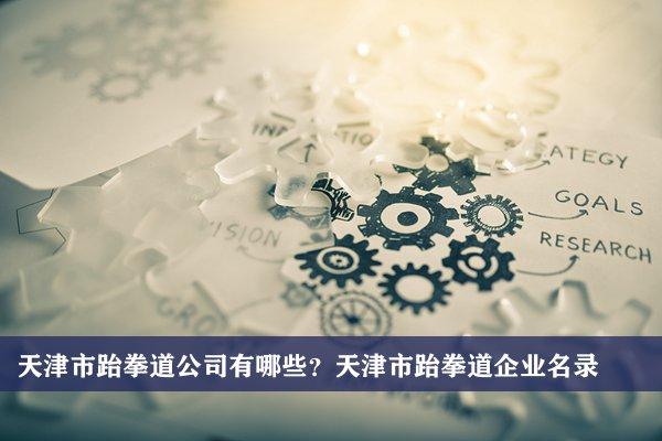 天津市跆拳道公司有哪些?天津跆拳道企业名录