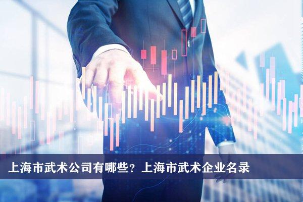 上海市武術公司有哪些?上海武術企業名錄