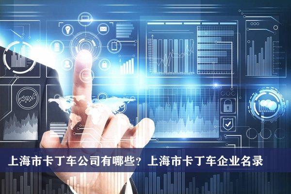 上海市卡丁车公司有哪些?上海卡丁车企业名录