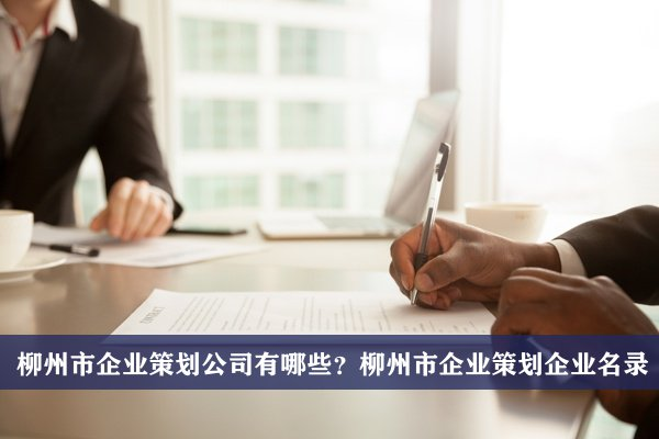 柳州市企业策划公司有哪些?柳州企业策划企业名录