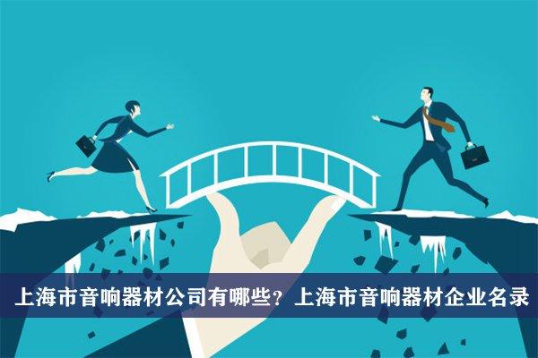 上海市音響器材公司有哪些?上海音響器材企業名錄