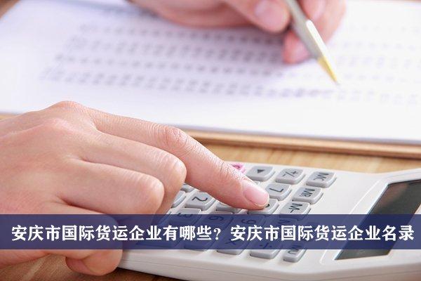 安庆市国际货运公司有哪些?安庆国际货运企业名录