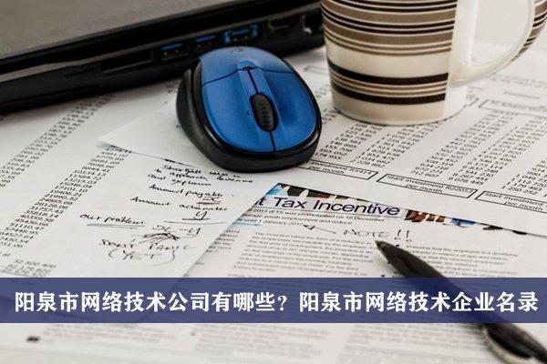 阳泉市网络技术公司有哪些?阳泉网络技术企业名录
