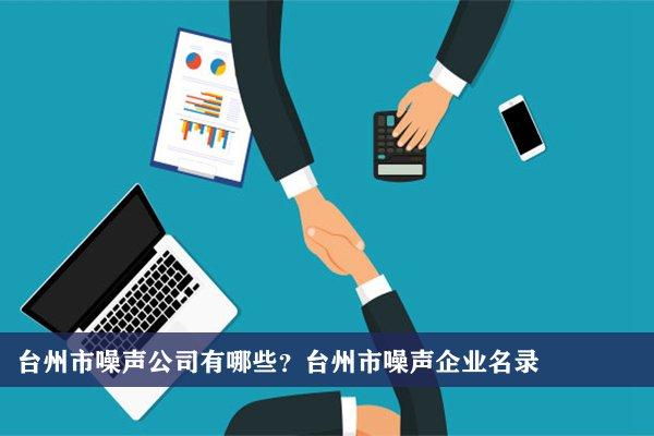台州市噪声公司有哪些?台州噪声企业名录