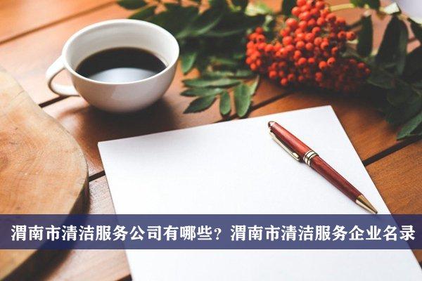 渭南市清洁服务公司有哪些?渭南清洁服务企业名录