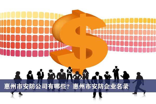 惠州市安防公司有哪些?惠州安防企业名录