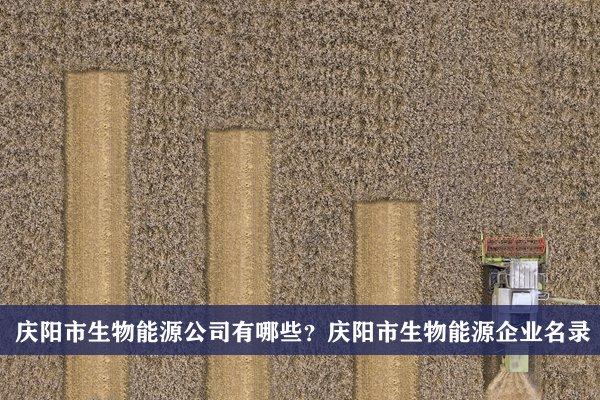 庆阳市生物能源公司有哪些?庆阳生物能源企业名录