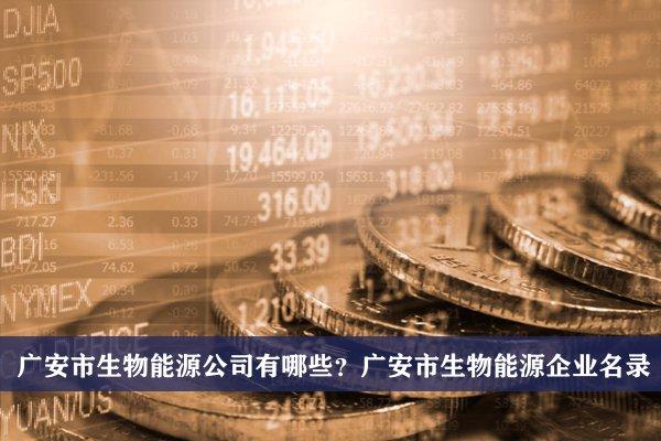 广安市生物能源公司有哪些?广安生物能源企业名录
