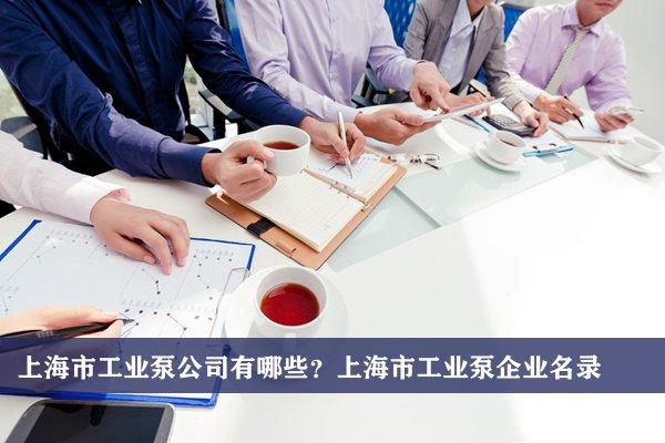 上海市工業泵公司有哪些?上海工業泵企業名錄