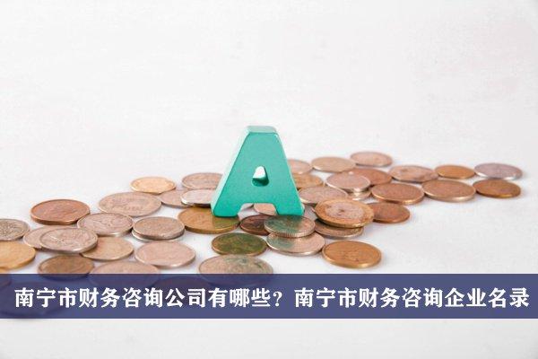 南宁市财务咨询公司有哪些?南宁财务咨询企业名录