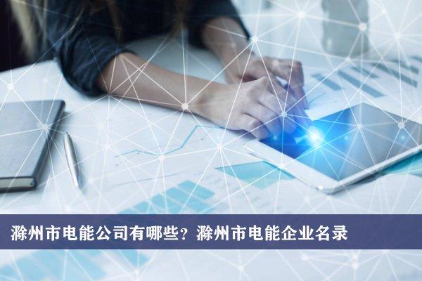 滁州市电能公司有哪些?滁州电能企业名录