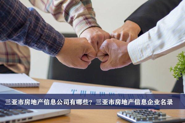 三亚市房地产信息公司有哪些?三亚房地产信息企业名录