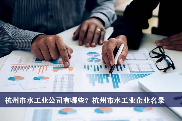杭州市水工业公司有哪些?杭州水工业企业名录
