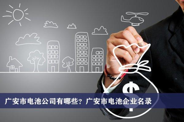 广安市电池公司有哪些?广安电池企业名录