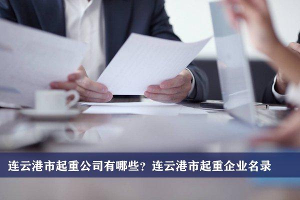 连云港市起重公司有哪些?连云港起重企业名录